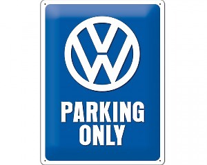3D Metallskylt VW - Parking Only 30x40