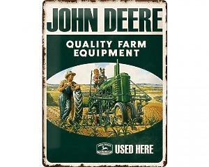 3D Metallskylt John Deere - Quality 30x40