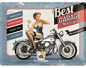 3D Metallskylt Best Garage - Bike Wash 30x40