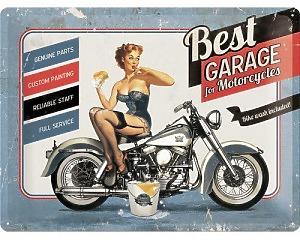 3D Metallskylt Best Garage - Bike Wash 30x40