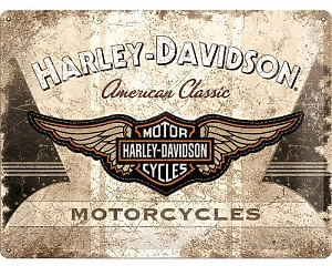 3D Metallskylt Harley-Davidson American 30x40