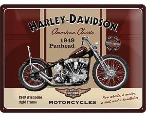3D Metallskylt Harley-Davidson Panhead 30x40