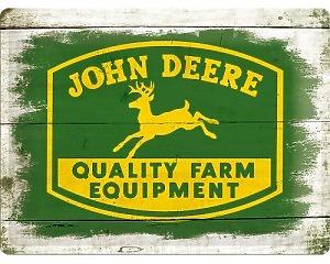 3D Metallskylt John Deere - Equipment 30x40