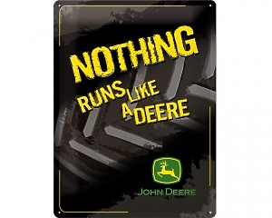 3D Metallskylt John Deere - Nothing 30x40