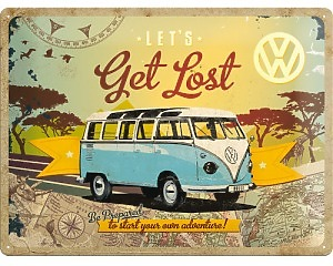 3D Metallskylt VW - Get Lost 30x40