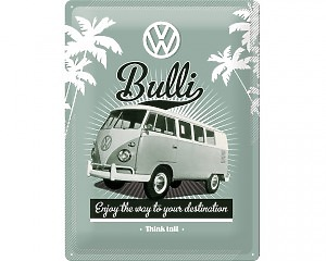 3D Metallskylt VW - Bulli 30x40