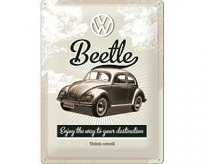 3D Metallskylt VW - Beetle 30x40