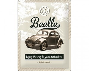 3D Metallskylt VW - Beetle 30x40