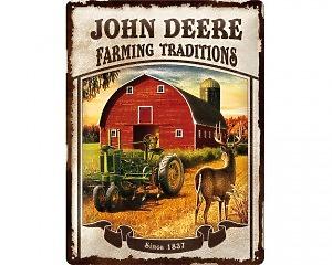 3D Metallskylt John Deere - Farming 30x40