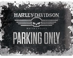 3D Metallskylt Harley-Davidson Skull Park 30x40