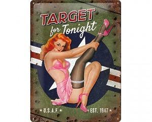 3D Metallskylt Pin Up - Target Tonight 30x40