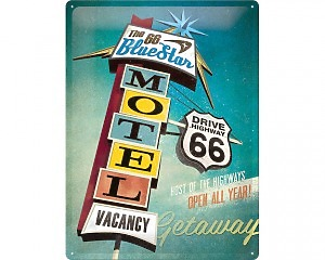 3D Metallskylt Route 66 - Motel 30x40