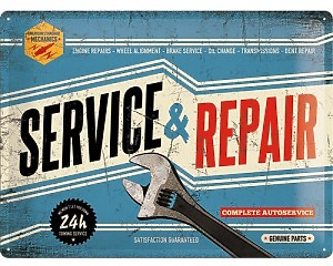 3D Metallskylt Best Garage - Service & Repair 30x40