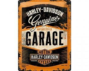 3D Metallskylt Harley-Davidson Garage 30x40