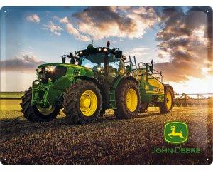 3D Metallskylt John Deere - Modell 6150R 30x40