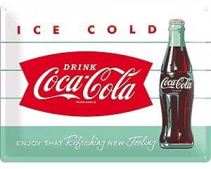 3D Metallskylt Coca Cola - 1960 Ice Cold 30x40