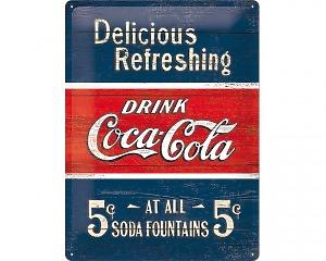 3D Metallskylt Coca Cola - Delicious 30x40