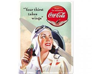 3D Metallskylt Coca Cola - Beauties Wings 30x40