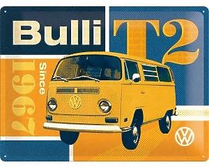 3D Metallskylt VW - T2 Bulli 30x40