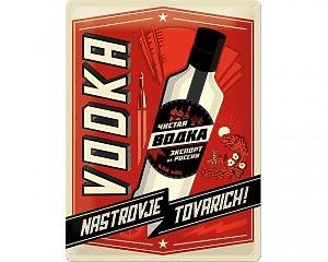 3D Metallskylt Alkohol - Vodka 30x40