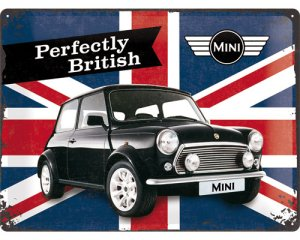 3D Metallskylt Mini - Union Jack 30x40