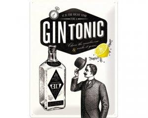 3D Metallskylt Alkohol - Gin & Tonic 30x40