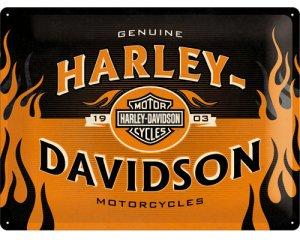 3D Metallskylt Harley-Davidson 1903 Logo 30x40