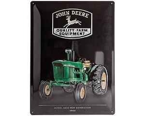3D Metallskylt John Deere Model 4020, 30x40