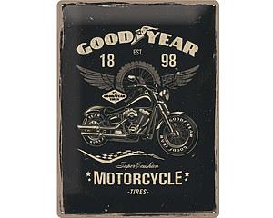 3D Metallskylt Good Year Motorcycle 30x40