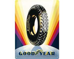 3D Metallskylt Good Year Sunrise Wheel 30x40