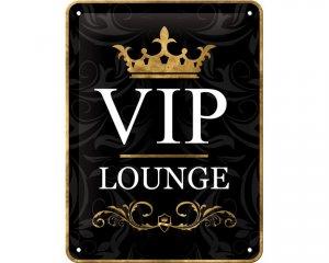 3D Metallskylt VIP Lounge - Svart 15x20