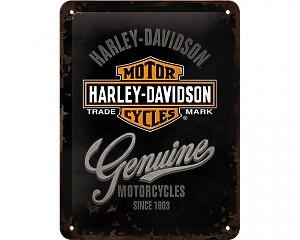 3D Metallskylt Harley-Davidson Genuine 15x20