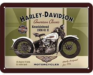 3D Metallskylt Harley-Davidson Knucklehead 15x20