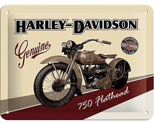 3D Metallskylt Harley-Davidson Flathead 15x20