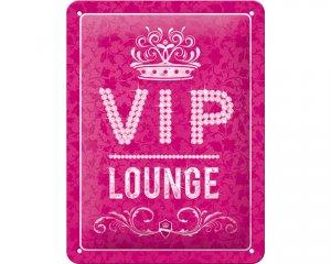 3D Metallskylt VIP Lounge - Rosa 15x20