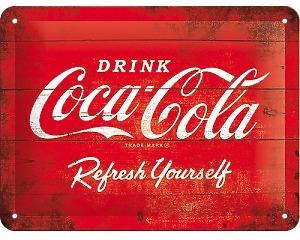 3D Metallskylt Coca Cola - 1960 Refreshing 15x20