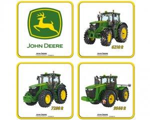 Glasunderlägg John Deere 4-pack