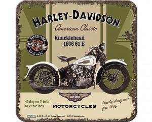 Glasunderlägg Harley-Davidson - Knucklehead