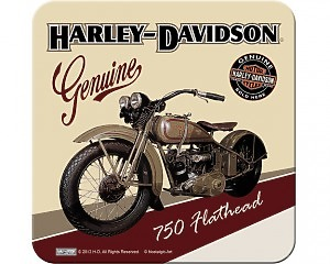 Glasunderlägg Harley-Davidson - Flathead