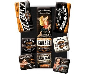 Magnetset Harley Davidson - Garage Babes