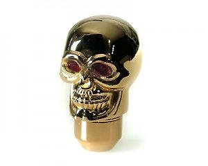 Växelspak Skull-Gold Red-eye