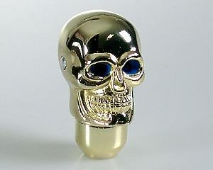 Växelspak Skull-Gold Blue-eye