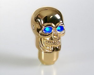 Växelspak Skull-Gold LED Blue-eye