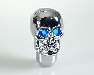 Växelspak Skull-Silver LED Blue-eye