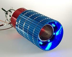 Slutrör Blue & Red Pipe LED