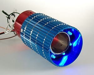 Slutrör Blue & Red Pipe LED