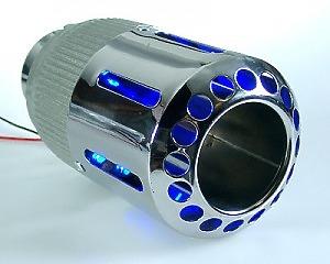 Slutrör Blue LED Kon