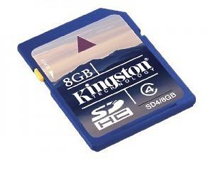 Minneskort Kingston 8 GB SDHC-kort