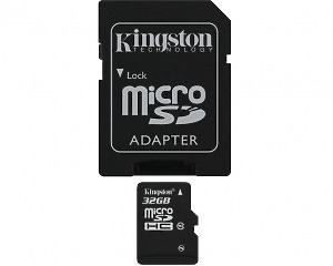 Minneskort Kingston microSDHC Card 32GB Class10