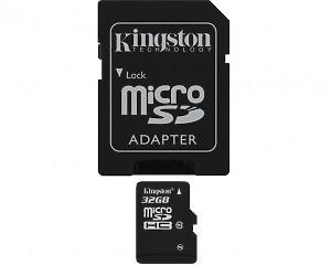 Minneskort Kingston microSDHC Card 32GB Class10